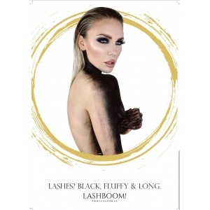 Werbeplakat Lashes? Black, fluffy, long.